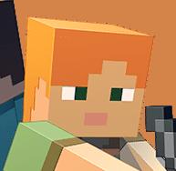 Alex Minecrafting