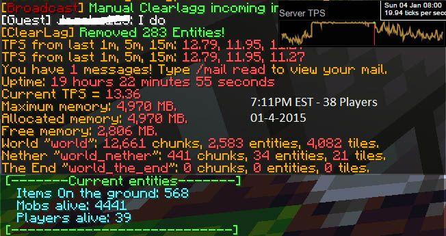 server minecraft schermata