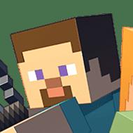Steve Minecrafting